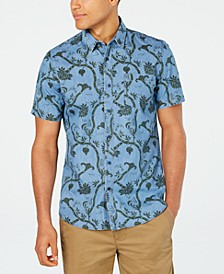 Men's Floral Paisley Print Shirt, Created for Macy's