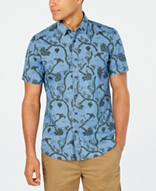 American Rag Men's Floral Paisley Print Shirt, Created for Macy's