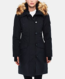 Alaska Faux-Fur-Trim Hooded Parka