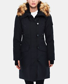 S13 Alaska Faux-Fur-Trim Hooded Parka