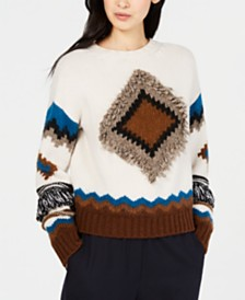 Weekend Max Mara Baita Diamond-Pattern Sweater