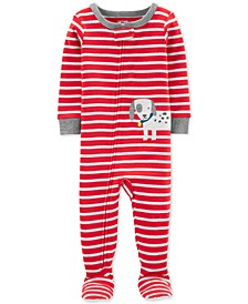 Baby Boys 1-Pc. Striped Dog Cotton Pajama