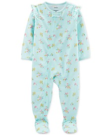 Baby Girls 1-Pc. Floral-Print Pajama