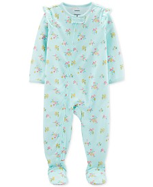 Carter's Baby Girls 1-Pc. Floral-Print Pajama