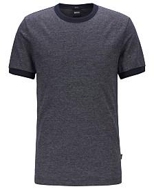 BOSS Men's Tessler 120 Slim-Fit Mouliné Cotton T-Shirt