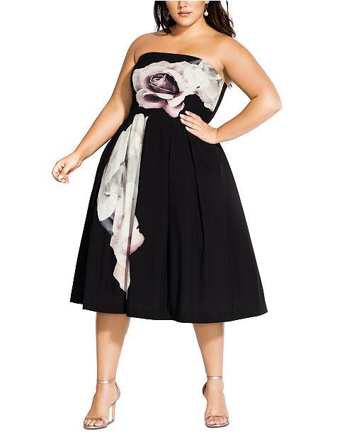 City Chic Trendy Plus Size Floral Austin Dress