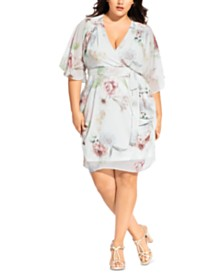 City Chic Trendy Plus Size Daydream Wrap Dress