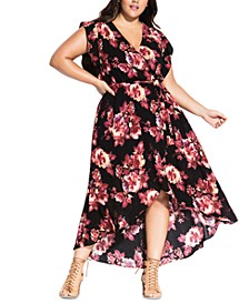 Trendy Plus Size High-Low Maxi Dress