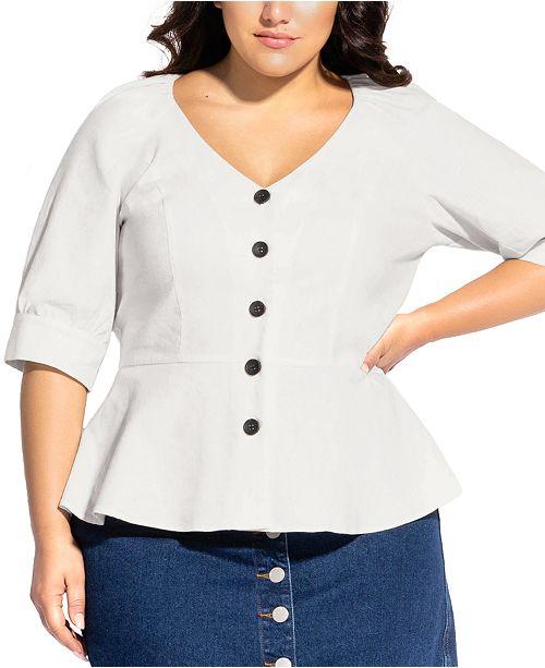 City Chic Trendy Plus Size Lola Top