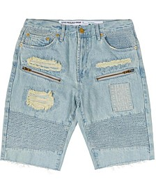 Men's Big & Tall Rally Denim Distressed Moto Shorts