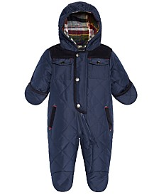 S Rothschild & CO Baby Boys Hooded Quilted Footed Pram