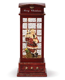 Napco LED Santa in Phone Booth Water Globe