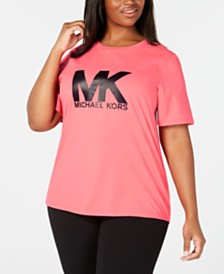 MICHAEL Michael Kors Plus Size Cotton Logo T-Shirt