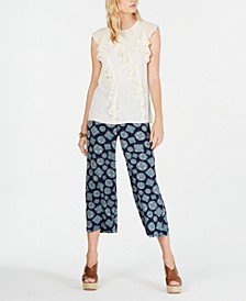 Ruffled Top & Cropped Pants