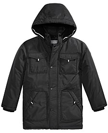 Michael Michael Kors Big Boys Faux-Fur-Trim Hooded Snorkel Jacket