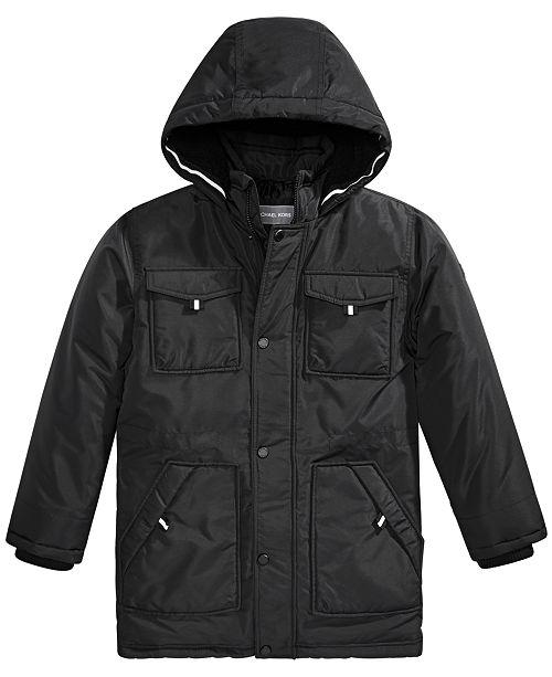 Michael Kors Little Boys Faux-Fur-Trim Hooded Snorkel Jacket