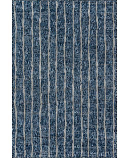 """Novogratz Collection Novogratz Villa Vi-03 Blue 5'3"""" x 7'6"""" Area Rug"""