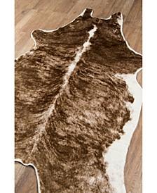 "Acadia Aca-1 Zebra Black 5'3"" x 7'10"" Area Rug"