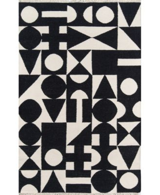 "Topanga Top-3 Black 3'6"" x 5'6"" Area Rug"