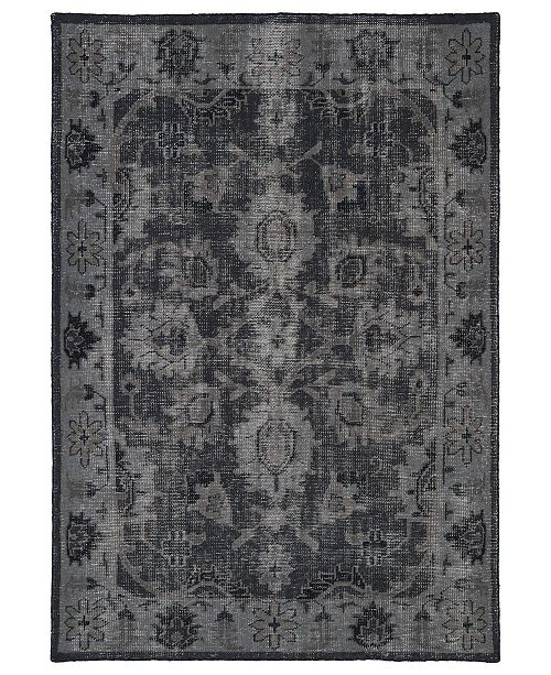 Kaleen Restoration RES02-02 Black 9' x 12' Area Rug