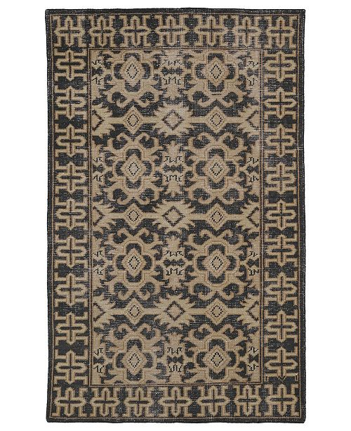 Kaleen Restoration RES04-02 Black 9' x 12' Area Rug