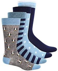 Bar III Men's 4-Pk. Printed Socks, Created for Macy's