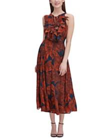 Tommy Hilfiger Ruffled Chiffon Midi Dress