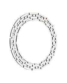 Abbyson Living Jericho Chain Link Round Wall Mirror
