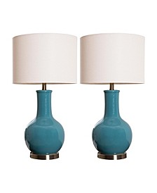 Shandi Ceramic Table Lamp, Set of 2