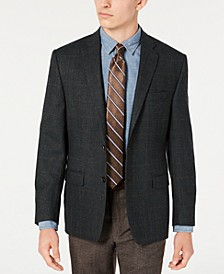Men's Classic-Fit UltraFlex Stretch Olive Plaid Sport Coat