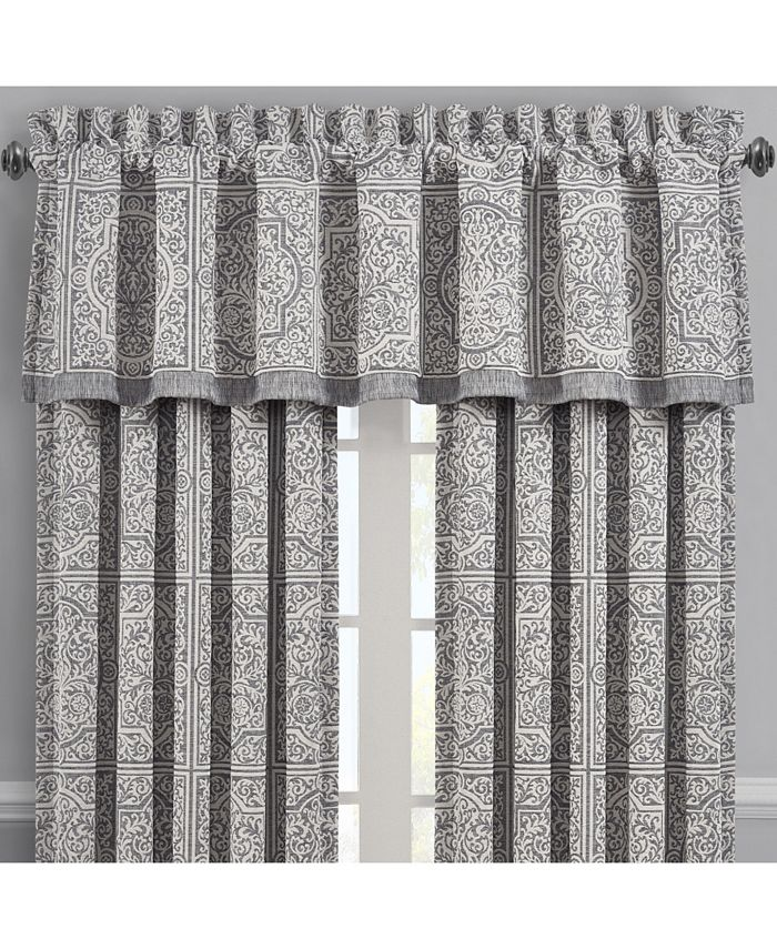 J Queen New York - Matteo Charcoal Window Straight Valance