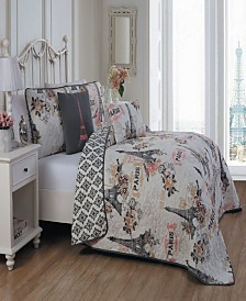 Cherie 5-Pc. King Paris Quilt Set