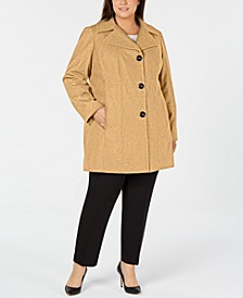Plus Size Single-Breasted Walker Coat