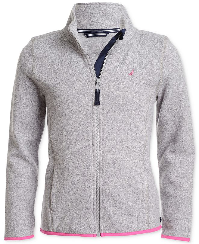 Nautica Big Girls Zip-Up Sweater