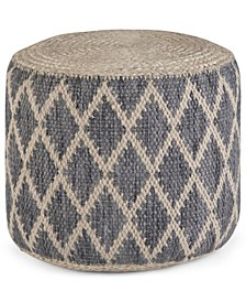 Edgeley Round Pouf, Quick Ship