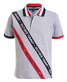 Little Boys Sloane Stretch Logo Tape Piqué Polo Shirt