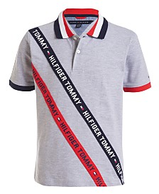 Tommy Hilfiger Little Boys Sloane Stretch Logo Tape Piqué Polo Shirt