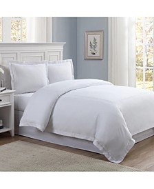Lux Hotel Baratta Embroidered 3-Pc. Full/Queen Duvet Set