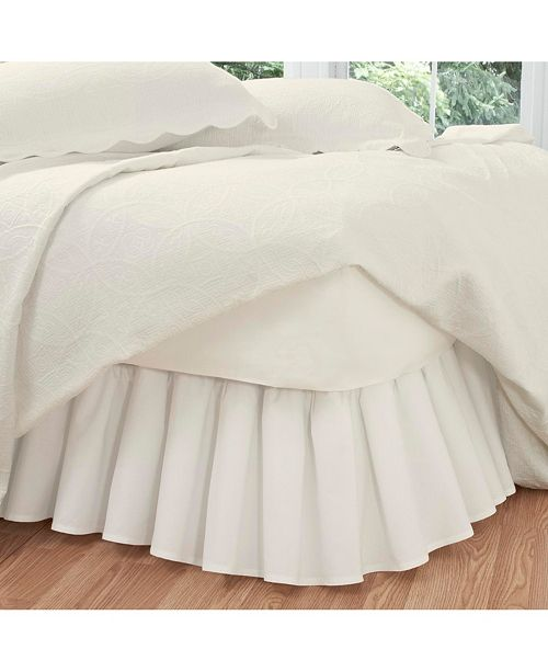 Fresh Ideas Ruffled Poplin King Bed Skirt