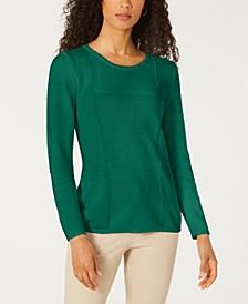 Patchwork-Stitch Pullover Sweater, Created for Macy's