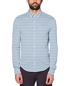 Men's Stripe Jacquard Shirt