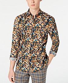 Men's Slim-Fit Teal Berry Shirt