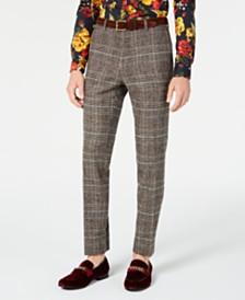 Paisley & Gray Men's Slim-Fit Plaid Dress Pants