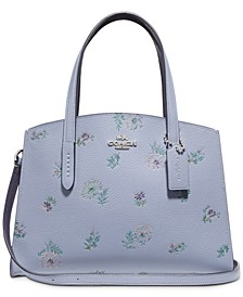 Charlie Leather 28 Carryall In Meadow Print