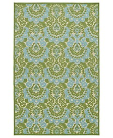 "A Breath of Fresh Air FSR107-50 Green 2'1"" x 4' Area Rug"