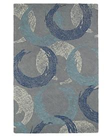 Montage MTG01-75 Gray 2' x 3' Area Rug