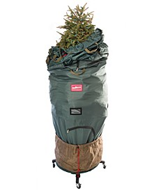 Large Upright Tree Storage Bag w/ Rolling Tree Stand