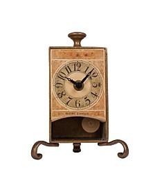 Stilnovo Brass Antique Pendulum Table Clock