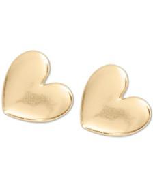 Lucky Brand Gold-Tone Heart Stud Earrings