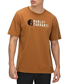 X Carhartt Men's Stacked Logo Graphic T-Shirt